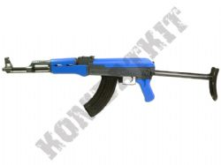 CM028S AK47B Electric AEG Airsoft Machine Gun Black and Blue